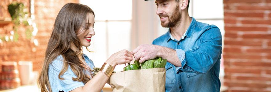 livraison de courses à domicile